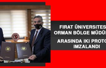 Fırat Üniversitesi İle Orman Bölge Müdürlüğü Arasında İki Protokol İmzalandı