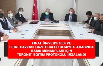 """FÜ ile FHGC Arasında Basın Mensupları İçin """"Drone"""" Eğitim Protokolü İmzalandı"""