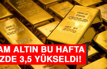 Gram Altın Bu Hafta Yüzde 3,5 Yükseldi