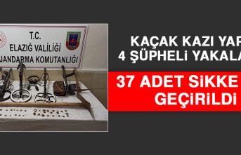 Kaçak Kazı Yapan 4 Şüpheli Yakalandı! 37 Adet Sikke Ele Geçirildi