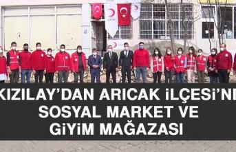Kızılay'dan Arıcak İlçesi'ne Sosyal Market ve Giyim Mağazası