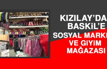 Kızılay'dan Baskil'e Sosyal Market ve Giyim Mağazası