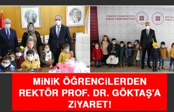 Minik Öğrencilerden Rektör Prof. Dr. Göktaş'a Ziyaret