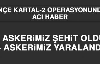 Pençe Kartal-2 Operasyonundan Acı Haber