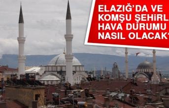 15 Mart'ta Elazığ'da Hava Durumu Nasıl Olacak?