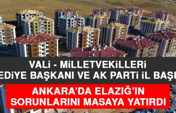 Ankara'da Elazığ'la İlgili Kritik Toplantı Yapıldı