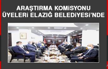 Araştırma Komisyonu Üyeleri Elazığ Belediyesi'nde