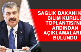 BAKAN KOCA BİLİM KURULU TOPLANTISI'NIN ARDINDAN AÇIKLAMALARDA BULUNDU!