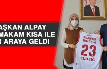 Başkan Alpay, Kaymakam Kısa İle Bir Araya Geldi