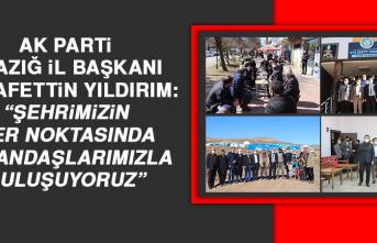 """Başkan Yıldırım: """"Şehrimizin her noktasında vatandaşlarımızla buluşuyoruz"""""""