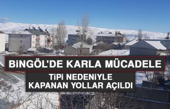 Bingöl'de Karla Mücadele, Tipi Nedeniyle Kapanan Yollar Açıldı