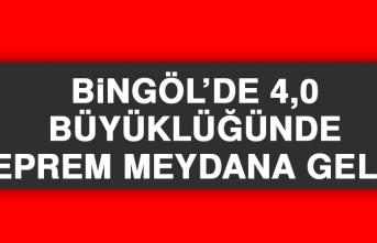 Bingöl'de 4,0 Büyüklüğünde Deprem Meydana Geldi