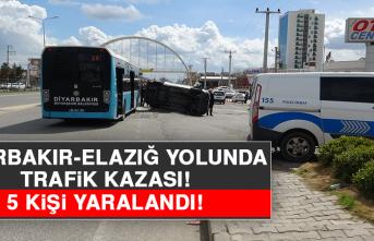 Diyarbakır - Elazığ Yolunda Trafik Kazası! 5 Kişi Yaralandı