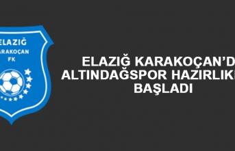 Elazığ Karakoçan'da Altındağspor Hazırlıkları Başladı