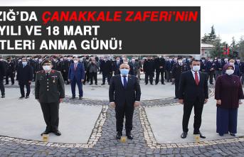 Elazığ'da Çanakkale Zaferi'nin 106. Yıl Dönümü ve 18 Mart Şehitleri Anma Günü