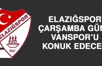 Elazığspor, Çarşamba Günü Vanspor'u Konuk Edecek