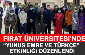 """Fırat Üniversitesi'nde """"Yunus Emre ve Türkçe"""" Etkinliği Düzenlendi"""