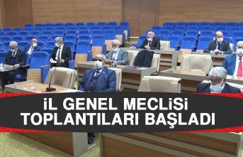 İl Genel Meclisi Toplantıları Başladı