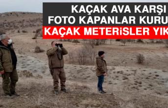 Kaçak Ava Karşı Foto Kapanlar Kuruldu, Kaçak Meterisler Yıkıldı
