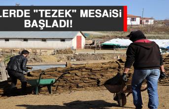 """Köylerde """"Tezek"""" Mesaisi"""