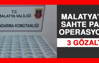 Malatya'da Sahte Para Operasyonu: 3 Gözaltı