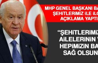 MHP Genel Başkanı Bahçeli Şehitlerimiz İle İlgili Açıklama Yaptı