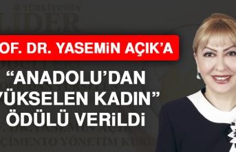 Prof. Dr. Yasemin Açık'a Anadolu'dan Yükselen Kadın Ödülü Verildi