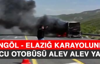 Bingöl - Elazığ Karayolunda Yolcu Otobüsü Alev Alev Yandı!