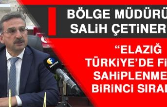 Çetiner: Elazığ Türkiye'de Fidan Sahiplenmede Birinci Sırada
