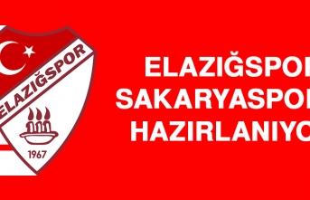 Elazığspor, Sakaryaspor'a Hazırlanıyor