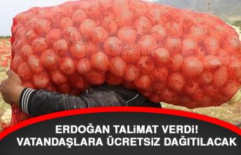 Erdoğan talimat verdi! Vatandaşlara ücretsiz dağıtılacak