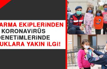 Jandarma Ekiplerinden, Koronavirüs Denetimlerinde Çocuklara Yakın İlgi