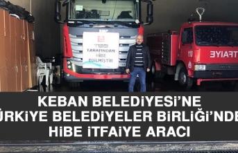 Keban Belediyesi'ne Türkiye Belediyeler Birliği'nden Hibe İtfaiye Aracı