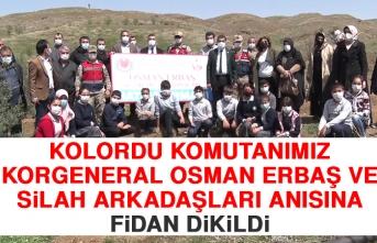 Kolordu Komutanımız Korgeneral Osman Erbaş ve Silah Arkadaşları Anısına Fidan Dikildi