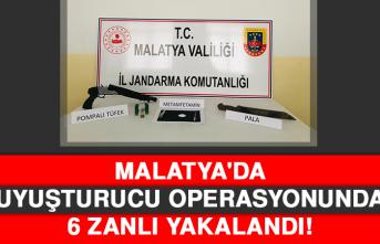 Malatya'da Uyuşturucu Operasyonunda 6 Zanlı Yakalandı