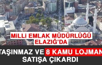 Milli Emlak Müdürlüğü Elazığ'da Taşınmaz ve Kamu Lojmanı Satışı Yapacak!