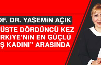 """Prof. Dr. Yasemin Açık Üst Üste Dördüncü Kez """"Türkiye'nin En Güçlü 50 İş Kadını"""" Arasında"""