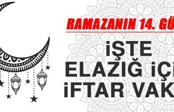 Ramazanın On Dördüncü Gününde Elazığ'da İftar Vakti Kaçta?