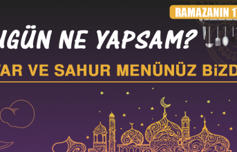 Ramazanın On Yedinci Gününde Elazığlılara Özel Yemek Menüsü