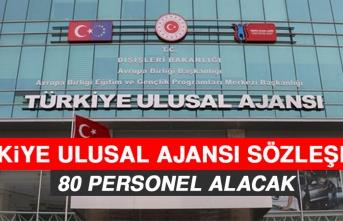 Türkiye Ulusal Ajansı Sözleşmeli 80 Personel Alacak