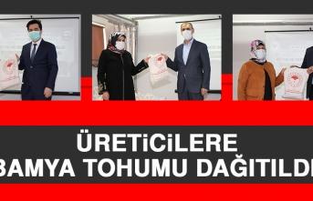 Üreticilere Bamya Tohumu Dağıtıldı