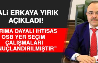 """Vali Yırık, """"Tarıma Dayalı İhtisas OSB Yer Seçim Çalışmaları Sonuçlandırılmıştır"""""""