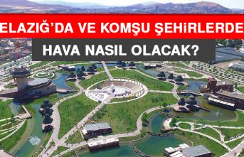 24 Mayıs'ta Elazığ'da Hava Durumu Nasıl Olacak?
