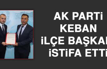 AK Parti Keban İlçe Başkanı İstifa etti