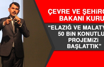 Bakan Kurum: Elazığ ve Malatya'da 50 Bin Konutluk Projemizi Başlattık