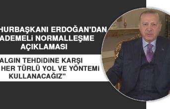 Cumhurbaşkanı Erdoğan'dan Kademeli Normalleşme Açıklaması