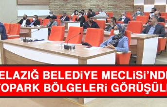 Elazığ Belediye Meclisi'nde Otopark Bölgeleri Görüşüldü