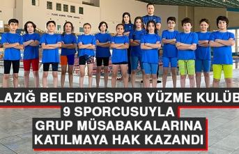 Elazığ Belediyespor Yüzme Kulübü, 9 Sporcusuyla Grup Müsabakalarına Katılmaya Hak Kazandı