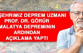 Hemşehrimiz Deprem Uzmanı Prof. Dr. Görür Açıklama Yaptı