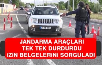Jandarma Araçları Tek Tek Durdurdu, İzin Belgelerini Sorguladı